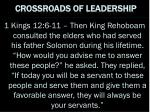 crossroads of leadership