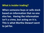 what is insider trading1