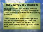 the journey to jerusalem106