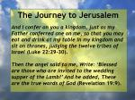 the journey to jerusalem115