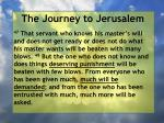 the journey to jerusalem121