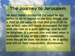 the journey to jerusalem133
