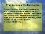 the journey to jerusalem135
