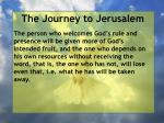 the journey to jerusalem144