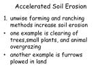 accelerated soil erosion