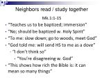 neighbors read study together