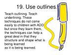 19 use outlines