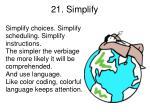 21 simplify