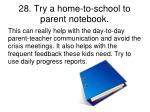 28 try a home to school to parent notebook