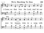 190 we re marching to zion 1 1