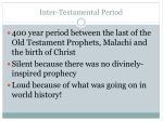 inter testamental period