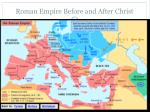 roman empire before and after christ