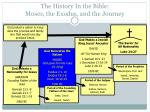 the history in the bible moses the exodus and the journey