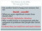 the history in the bible the age of the kings3
