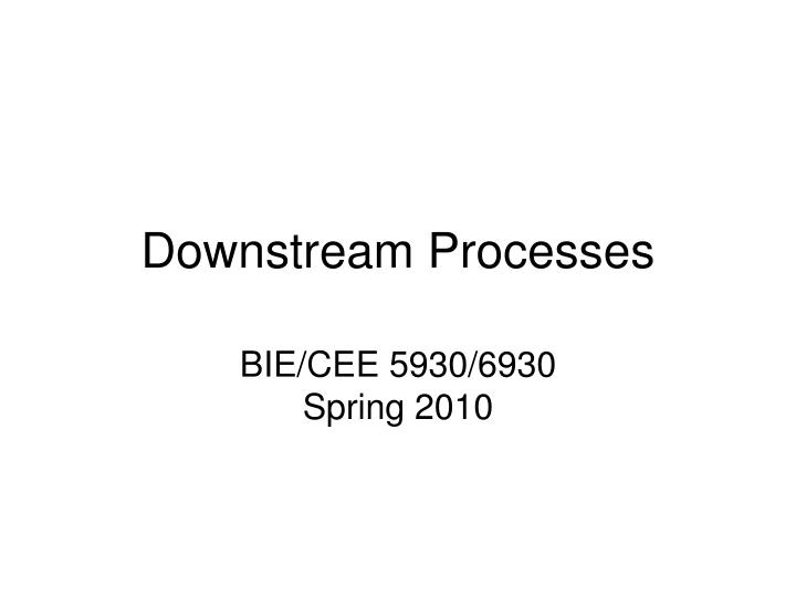 downstream processes n.