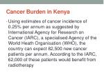 cancer burden in kenya