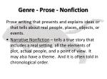 genre prose nonfiction