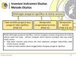 investasi instrumen ekuitas metode ekuitas5