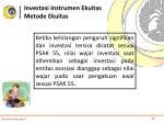 investasi instrumen ekuitas metode ekuitas6