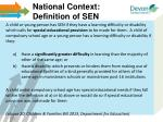 national context definition of sen