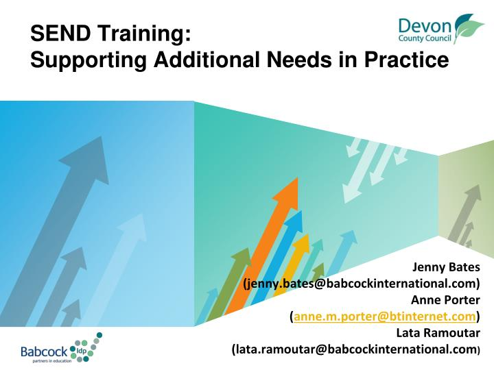 send training supporting additional needs in practice n.