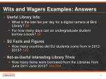 wits and wagers examples answers