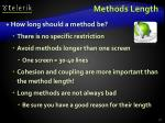 methods length