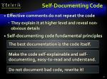 self documenting code