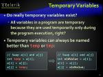 temporary variables