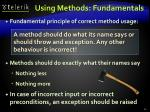 using methods fundamentals