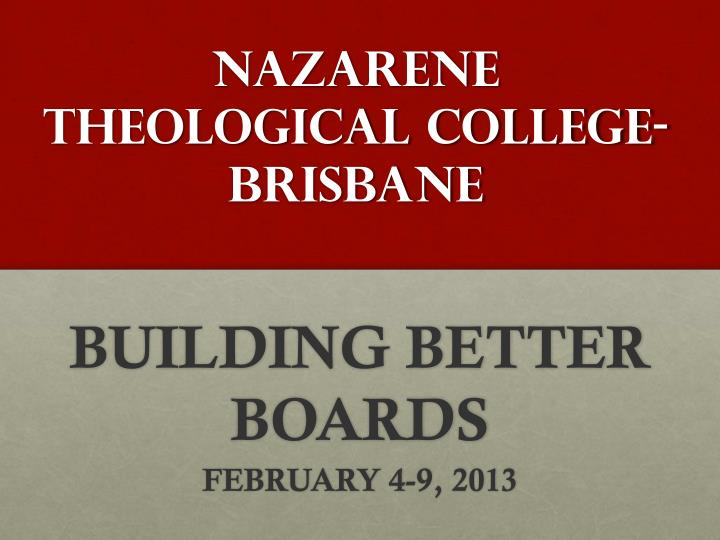 nazarene theological college brisbane n.