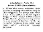 untuk suksesnya pemilu 2014 rakerda fkub merekomendasikan