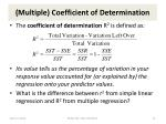 multiple coefficient of determination