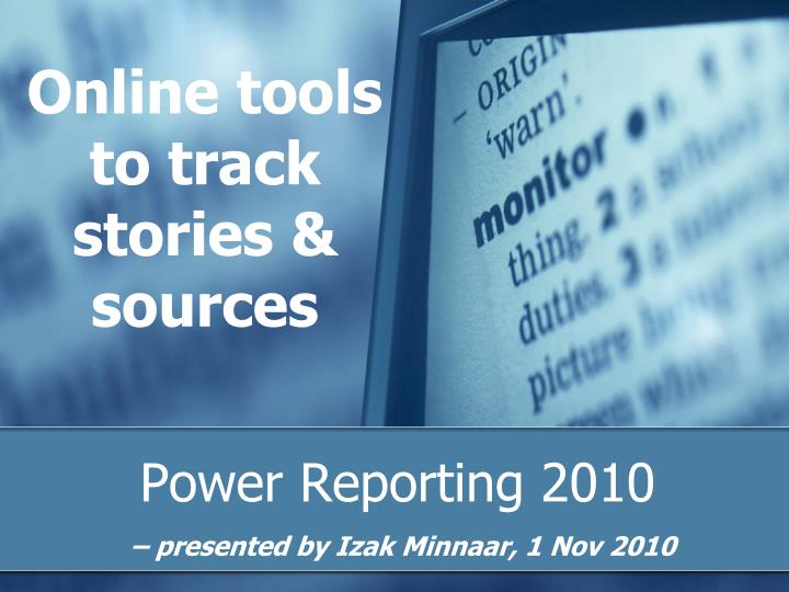 online tools to track stories sources n.