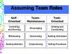 assuming team roles