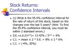 stock returns confidence intervals