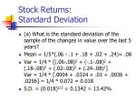 stock returns standard deviation