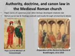 authority doctrine and canon law in the medieval roman church