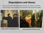 disputations and theses