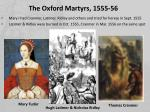 the oxford martyrs 1555 56