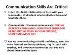 communication skills are critical