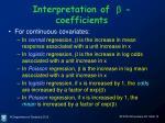 interpretation of b coefficients