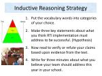 inductive reasoning strategy