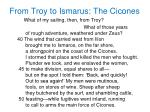 from troy to ismarus the cicones