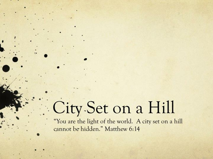city set on a hill n.