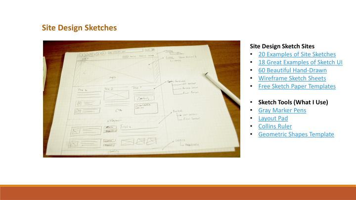 Site Design Sketches