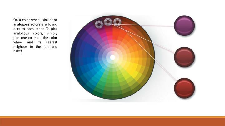 On a color wheel, similar or