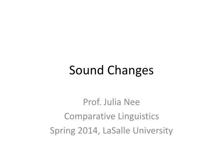 sound changes n.