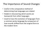 the importance of sound changes
