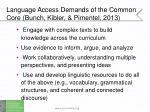 language access demands of the common core bunch kibler pimentel 2013